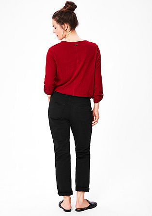 Curvy fit: donkere coloured jeans