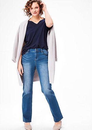 Curvy fit: jeans met rechte pijpen