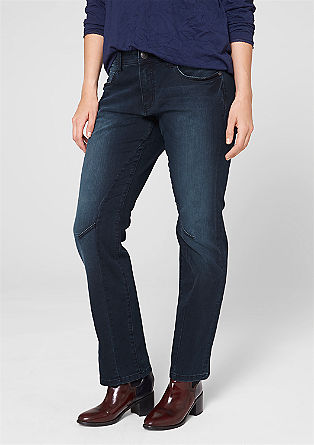 Curvy jeans with effect stitching from s.Oliver