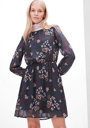 Cvetlična obleka svilenega videza