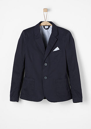 Dark blue formal twill jacket from s.Oliver