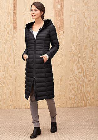 Daunenmantel mit Fake Fur