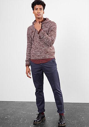 Debel pleten pulover s kapuco