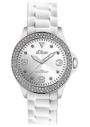 Dekorative Armbanduhr mit Silikonband