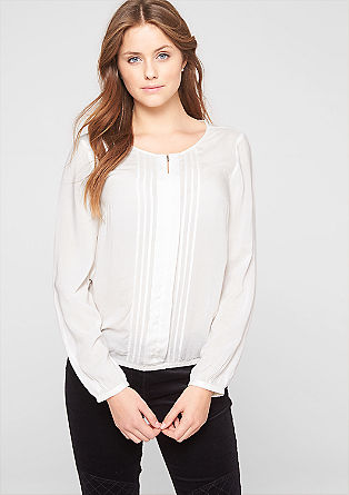 Delicate blouse with pintuck pleats from s.Oliver