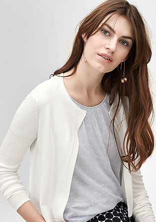 Delicate cardigan with a draped effect from s.Oliver