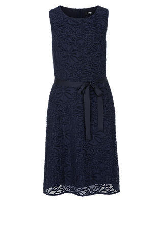 Delicate dress with a woven floral pattern from s.Oliver