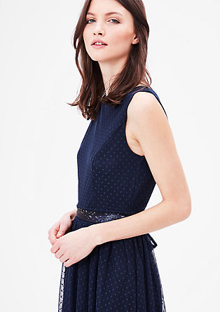Delicate mesh dress with polka dots from s.Oliver