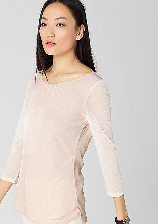 Delicate mesh top with a print from s.Oliver
