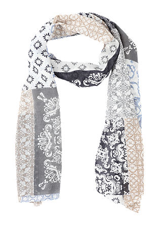 Delicate scarf with a printed pattern from s.Oliver