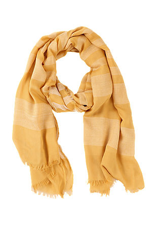 Delicate scarf with woven stripes from s.Oliver