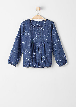 Denim blouse with stars from s.Oliver