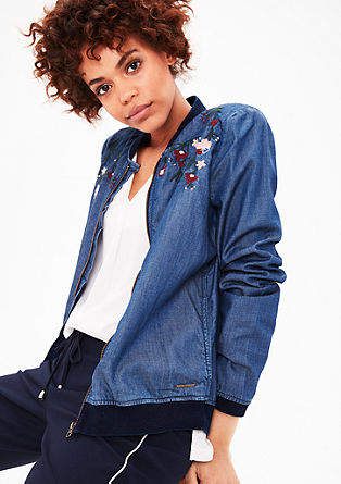 Denim bomber jacket with embroidery from s.Oliver