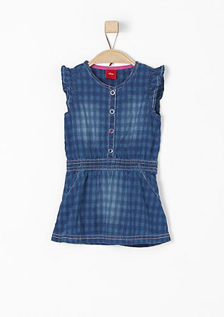 Denim dress with check pattern from s.Oliver
