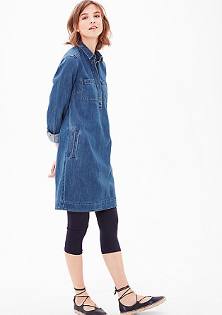 Denim dress with long sleeves from s.Oliver