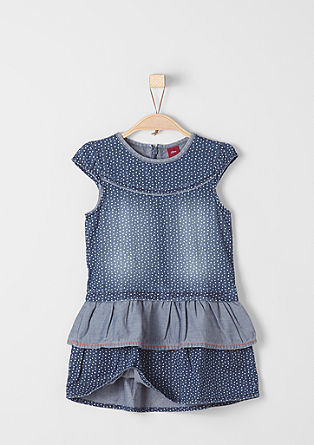 Denim dress with polka dots from s.Oliver