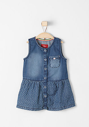Denim dress with press stud placket from s.Oliver