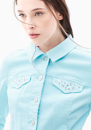 Denim jacket with gemstones from s.Oliver