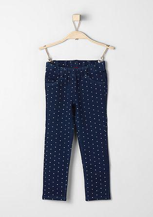 Denim-look polka dot leggings from s.Oliver