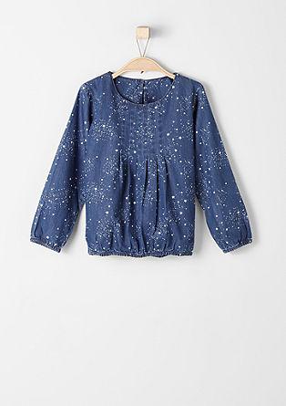 Denim shirt met sterretjes