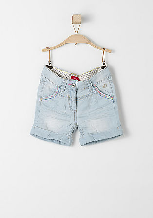 Denim-Shorts mit Stitchings