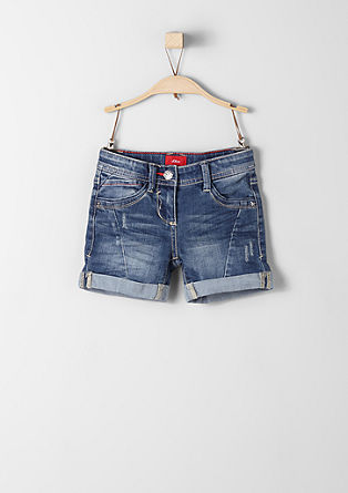 Denim shorts with coloured stitching from s.Oliver