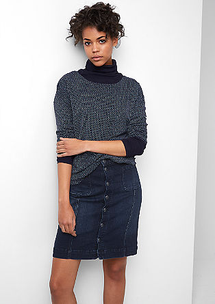 Denim skirt with a button placket from s.Oliver