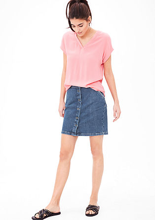 Denim skirt with buttons from s.Oliver