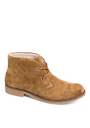 Derby-Schuhe im Wildleder-Look