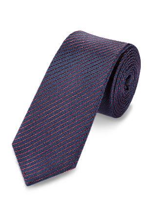 Diagonalno črtasta svilena kravata