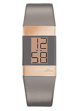 Digitaal horloge met een materiaalmix