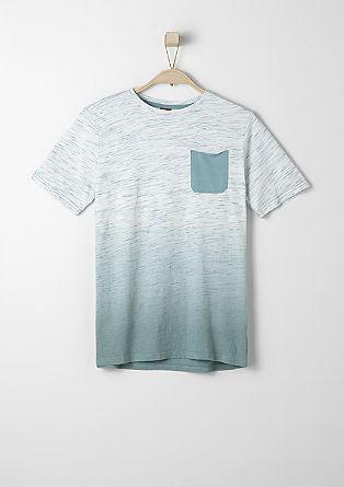 Dip Dye-Shirt mit Brusttasche