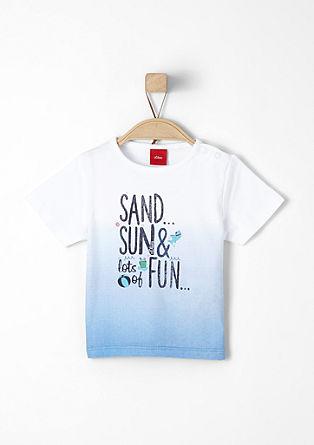 Dip-dyed printed shirt