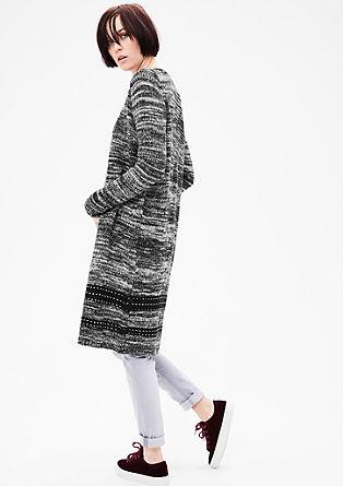 dlouhý pletený kabátek smelírovaným vzhledem