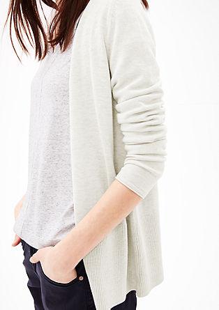 Dlouhý pletený kabátek ze směsi sviskózou