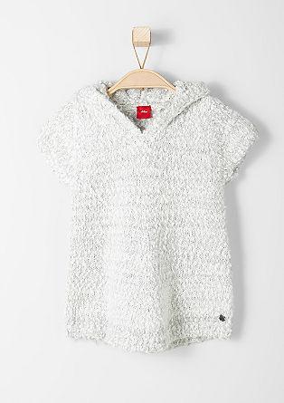 Dolg pulover iz efektne preje