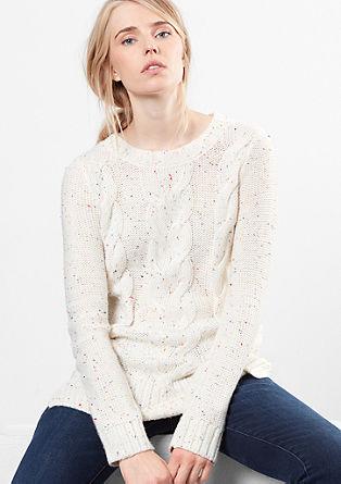 Dolg pulover iz volnene mešanice