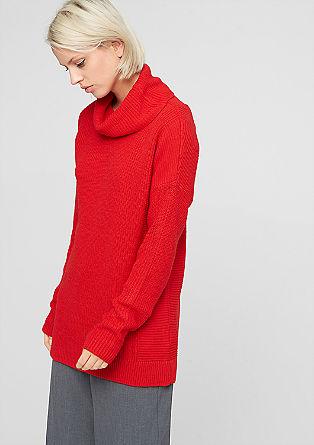 Dolg pulover s kombinacijo struktur