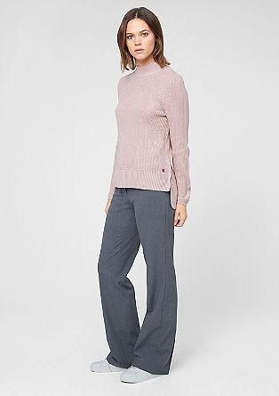 Dolg pulover s stoječim ovratnikom
