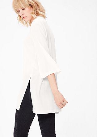 Dolga bluza iz krepa