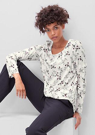 Dolga bluza s cvetličnim potiskom