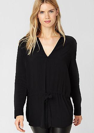Dolga bluza s trakom za zavezovanje