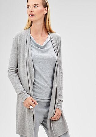 Dolga jakna iz fine pletenine