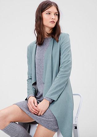 Dolga jakna v videzu semiša