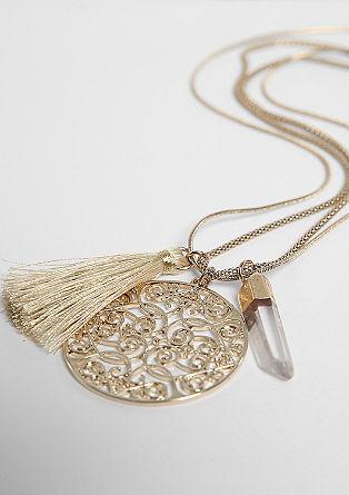 Dolga ogrlica z obeski
