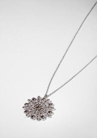 Dolga ogrlica z okroglim obeskom