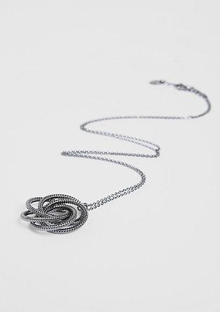Dolga ogrlica z vozlastim obeskom