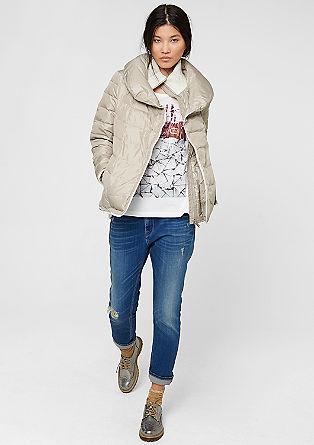Donzen jas met een lagenlook