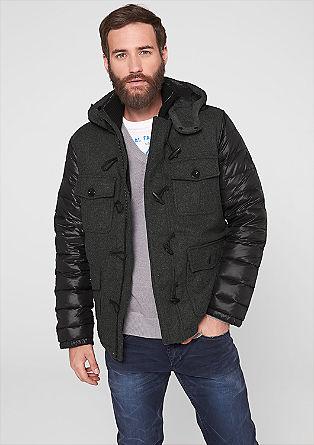 Donzen jas met wollige fleece