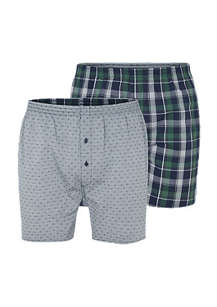 Double pack of cotton boxer shorts from s.Oliver